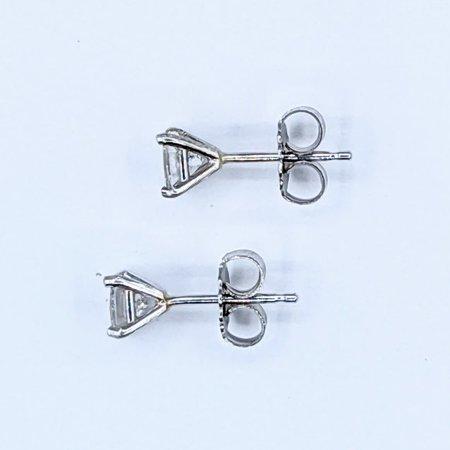 Earrings Studs .39ctw Princess Cut Diamonds 14kw 121050006