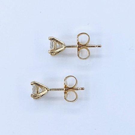Earrings Studs .43ctw Princess Cut Diamonds 14ky 121050004