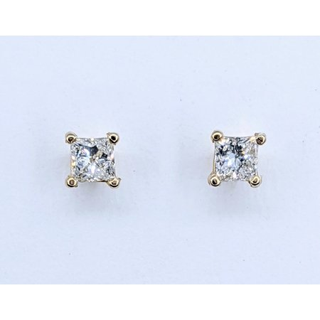 Earrings Studs .43ctw Princess Cut Diamonds 14ky 121050005