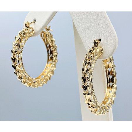 Earrings Hoop 10ky 121040263
