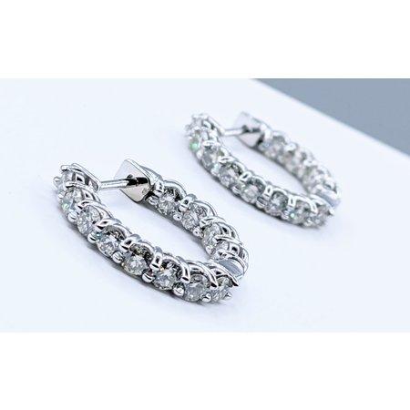 Earrings Inside Outside 2.01ctw Diamond 14kw 121050013