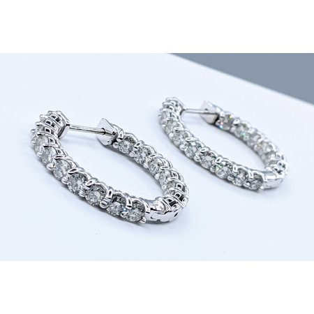 Earrings Inside Outside 3.13ctw Diamond 14kw 121050015