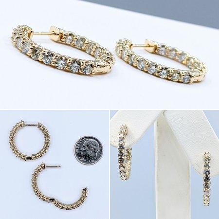 Earrings Inside Outside 3.18ctw Diamond 14ky 121050016