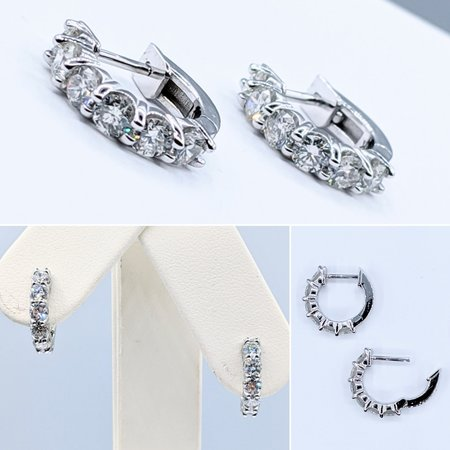 Earrings .98ctw Diamond 14kw 121050010