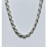 """Necklace Rope 12mm Silver 26"""" 121050065"""