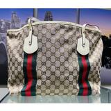 Gucci Tote Bag Whites Canvas 1134022 121050054
