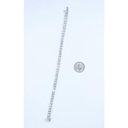"Bracelet Tennis 8.60ctw Round Diamonds 18kw 7.25"" 221050014"