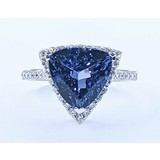 Ring .38ctw Round Diamonds 4.82ctw Tanzanite 18kw Sz7 221050026