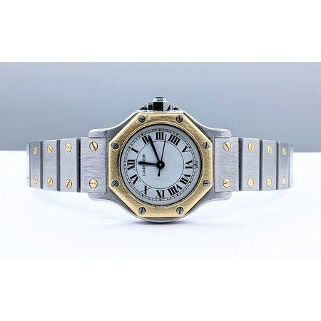 Cartier LDS Santos Octagon 18K Bezel 25mm 121050042