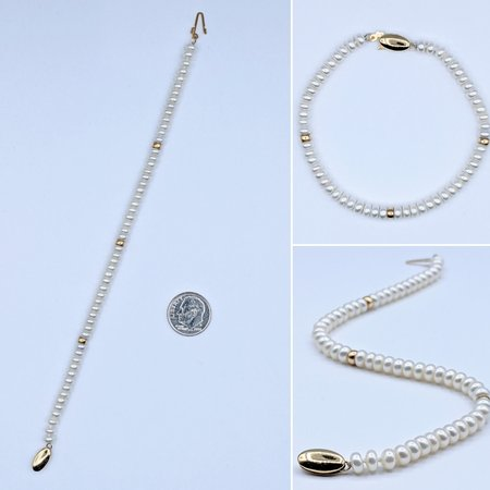 "Bracelet Strand 4.5mm Pearls 14ky 7"" 221050034"