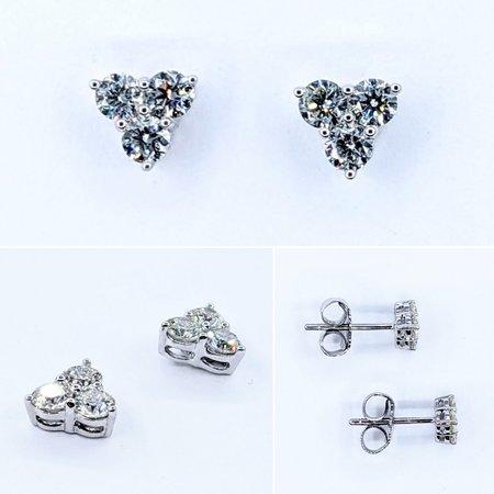 Earrings .68ctw Diamond 14kw 6.75x6.75mm 121050166