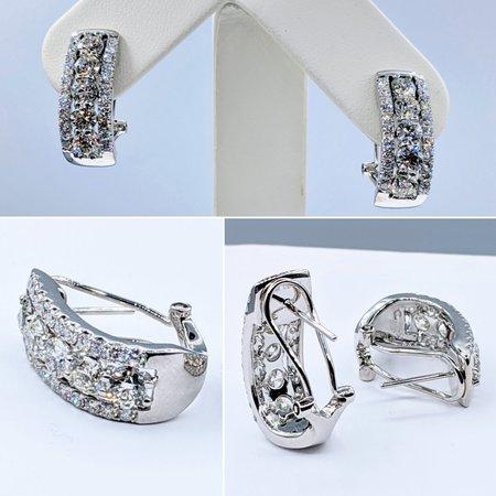 Earrings 3.57ctw Diamond 14kw 22x8mm 121050159
