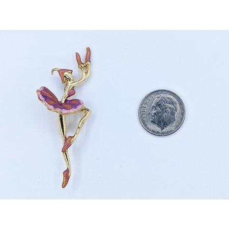 Brooch Balet Dancer Enameled 14ky 121060003