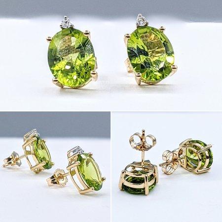 Earrings 14KY .04 DI 5.19 CT PERIDOT 121060050