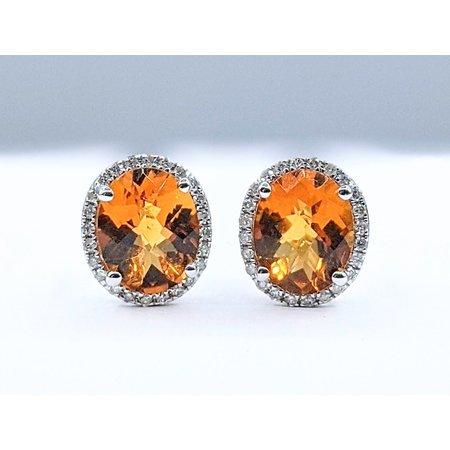 Earrings 14KW .33 DI. 4.66. CT CITRINE 121060036