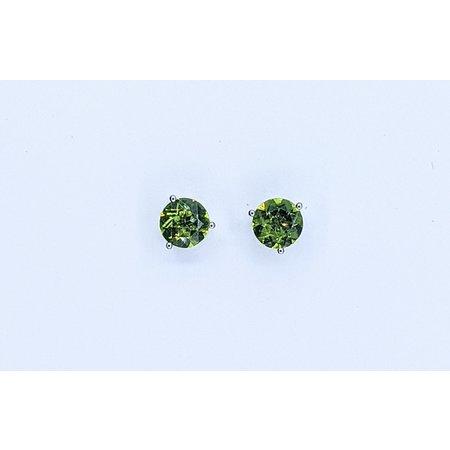 Earrings 14KW 7MMRD PERIDOT 121060058
