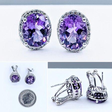 Earrings 14KW ..32 DI 4.49 CT AME 121060034