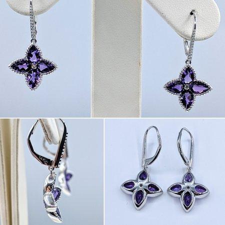 Earrings 14KW .02 DI 2.94 AMETHYST 121060074
