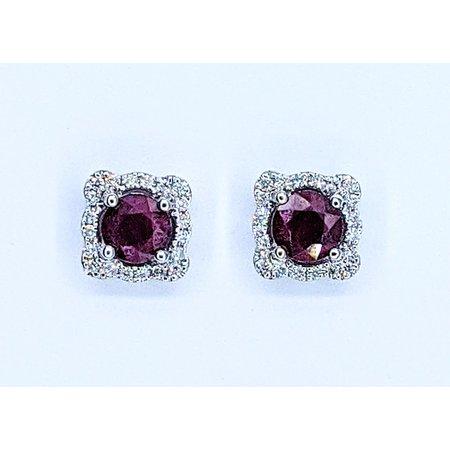 Earrings 14KW .20 DI 1.75 CT RUBY 121060073