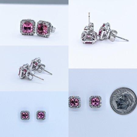 Earrings 14KW .21 DI 1.26 CT PINK TOUR 121060072
