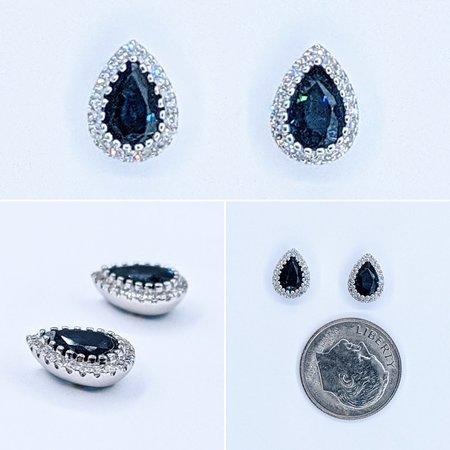 Earrings 14KW. .12 DI 1.06. CT SAPP 121060056