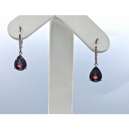 Earrings 14KR 0.07 DI 5.84 CT GARNET 121060081