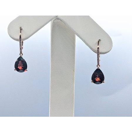 Earrings 14KR 0.07 DI 5.84 CT GARNET 121060082