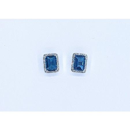 Earrings 14KW .17 DI 2.39 CT LONDON BLUE TOPAZ 121060061