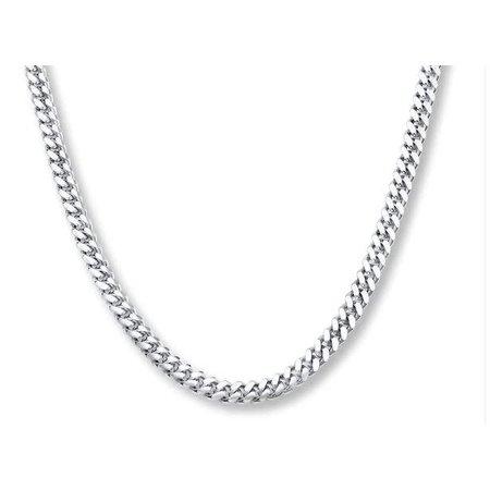 """Bracelet Cuban 6mm Silver 9"""" 121060247"""