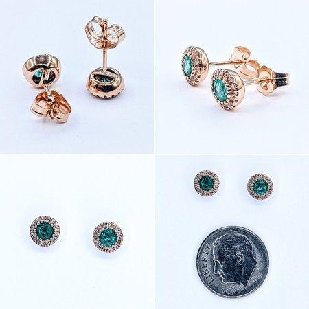Earrings 14KR .10 DI .47 CT EMERALD 121060038