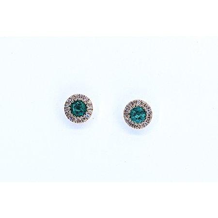 Earrings 14KR .10 DI .47 CT EMERALD 121060037