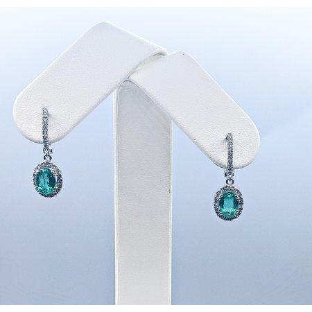 Earrings 14KW .37DI 1.39 CT EMERALD 121060029