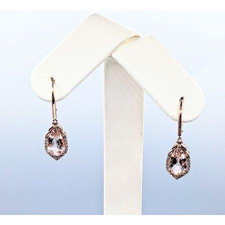 Earrings 14KR .22 DI 4.27 CT MORGANITE 121060070