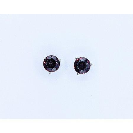 Earrings 14KW 3.36. CT GARNET 121060057