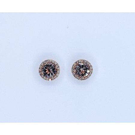 Earrings 14KR .13 DI 1.40 CT MORGANITE 121060045