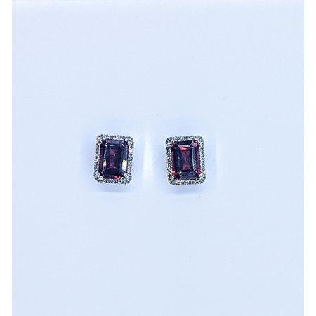 Earrings 14KW .16 DI 2.46 CT GARNET 121060060