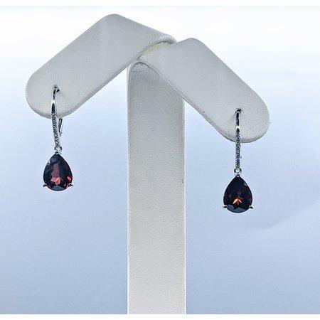 Earrings 14KW 0.07 DI 5.84 CT GARNET 121060083
