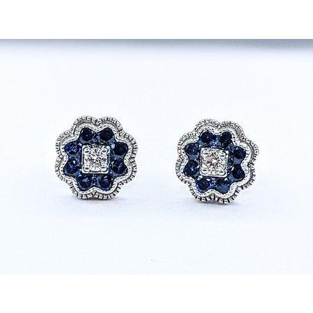 Earrings 14KW .10 DI .50 CT SAPP 121060066