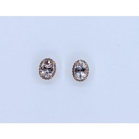 Earrings 14KR .14 DI 1.33 CT MORGANITE 121060067