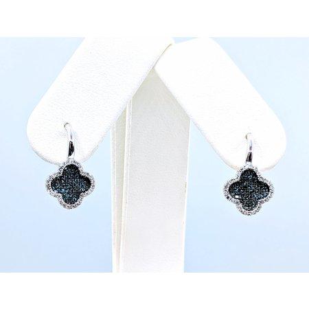 Earrings 14KW .56 CT TW WHITE & BLUE DIA 121060075