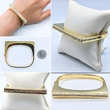 Bracelet Bangle 2.25ctw Round Diamonds 18ky 16cm 221060008
