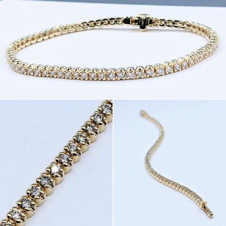 "Bracelet 2.00ctw Diamond 14ky 7"" 121050269"
