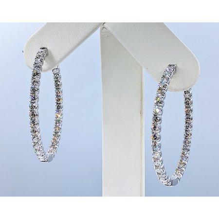 """Earrings Inside Outside 5.00ctw Diamond 14kw 1.5x1.25"""" 121050238"""