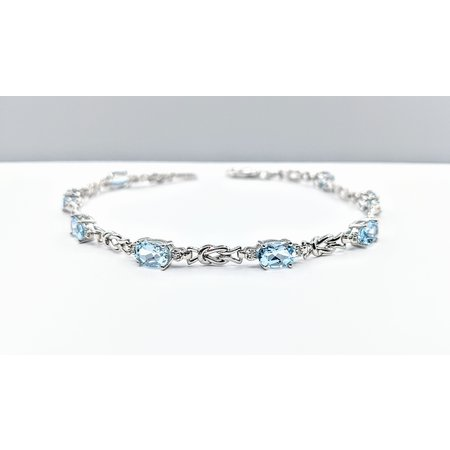 Bracelet 14KW .09 DI 3.73 CT AQUA 121060020