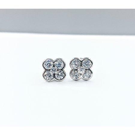 Earrings .90ctw Cubic Zirconia 10kw 121060332