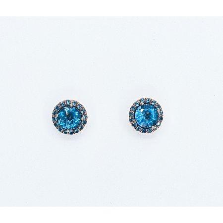 Earrings 2.00ctw London Blue Topaz 10kr 121060328