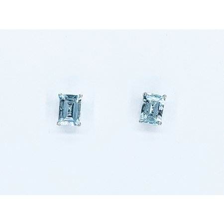 Earrings 2.2ctw Aquamarine 10kw 121060327
