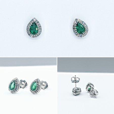 Earrings .20ctw Diamond 14kw 9x6.75mm 121060325