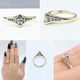 Ring .27ct Marquise Diamond 14ky Sz5.25 121060339