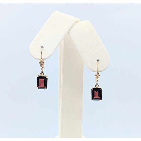 Earrings 3ctw Garnet 14ky 121060330